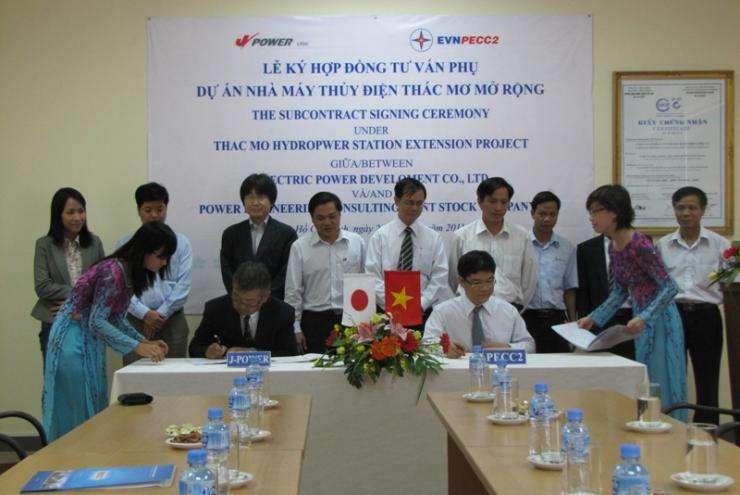 Subcontract Signing Ceremony for Thac Mo Hydropower Station Extension Project